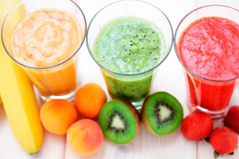 fruta temporada verano batido saludable