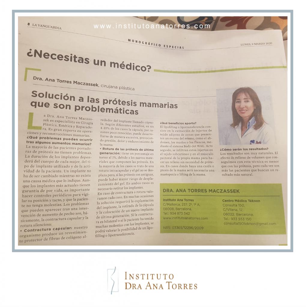blog-la-vanguardia-solucion-protesis-mamarias-problemáticas-instituto-dra-ana-torres